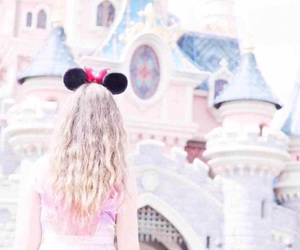 castle, disney, and girl image