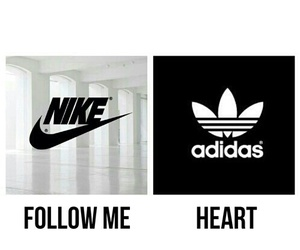nike, adidas, and heart image