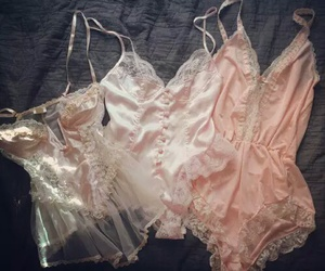 lingerie, pink, and sexy image