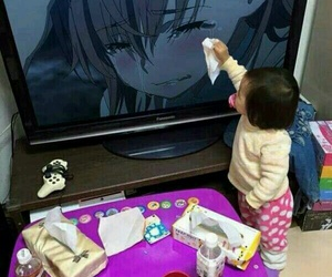 baby, anime, and cry image