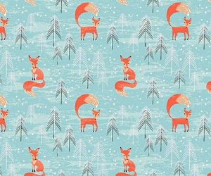 fox, background, and pattern image