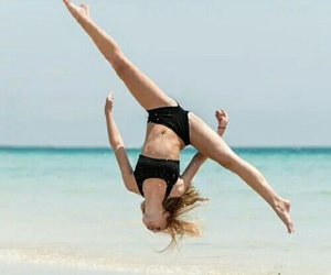 beach, gymnastics, and dance image