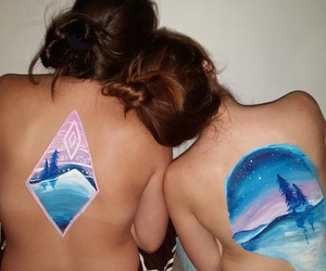 body, body paint, and paint image