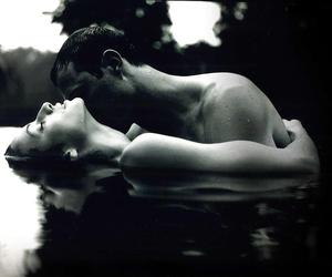 black and white, romance, and love image