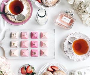 donuts, tea, and chocolate image