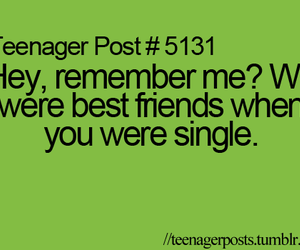 single, text, and friends image