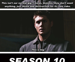crowley, funny, and dean winchester image