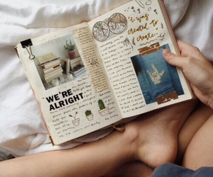 art, summer, and book image