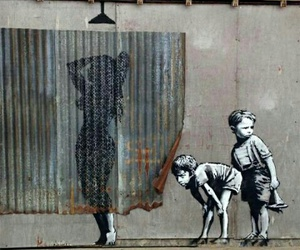art, street art, and bansky image