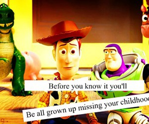 toy story, childhood, and quote image