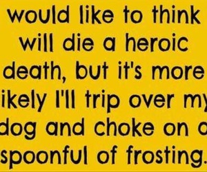 funny, death, and frosting image