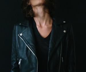 black, jacket, and style image