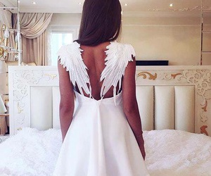 dress, fashion, and angel image