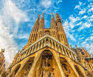 Barcelona, city, and historical image