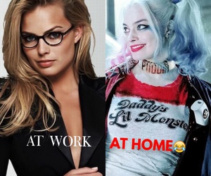 harley quinn, margot robbie, and joker image
