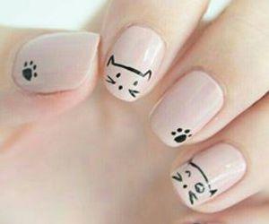 cat, nail, and art.girly image
