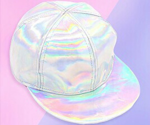 cap, fashion, and holographic image