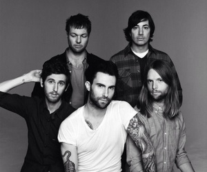 band, maroon 5, and adam levine image