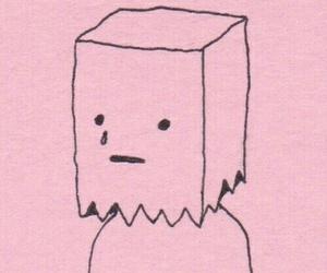pink, sad, and cry image