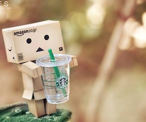 starbucks, danbo, and coffee image