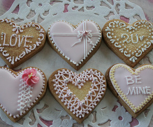 Cookies, valentines day, and heart cookies image
