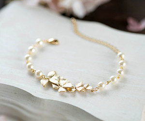 etsy, gold bracelet, and bridesmaid gift image