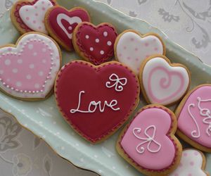 Cookies, valentine, and valentines day image