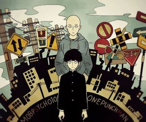 one punch man and mob psycho 100 image