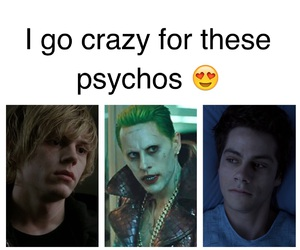 joker, teen wolf, and psychos image