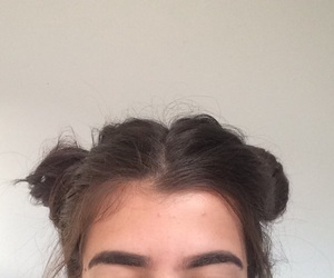 buns, edgy, and eyebrows image
