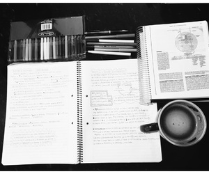 book, coffee, and colors image