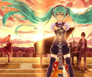 vocaloid, guitar, and anime image