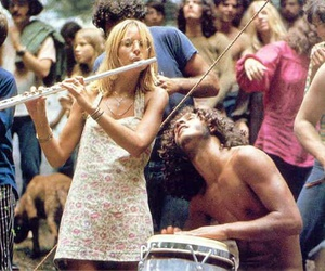 woodstock, music, and hippie image