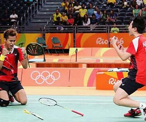 badminton, ri71, and indonesia image