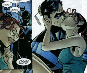batgirl, dick grayson, and robin image