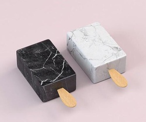 black, marble, and cool image