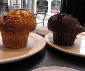 cake, muffin, and double chocolate image