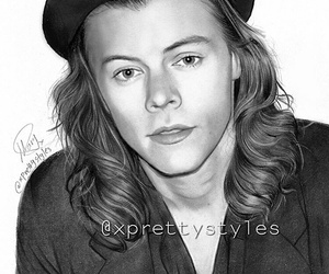 drawings, draws, and Harry Styles image