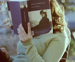 book, anna karenina, and reading image