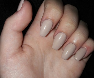 beige, gelnails, and nails image