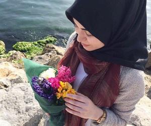 colorful, muslim, and hijabgirl image