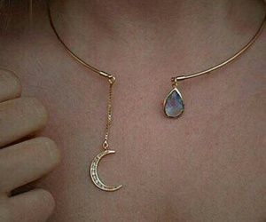 moon, accessories, and gold image