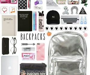 backpack, Polyvore, and fashion image