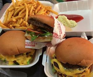 burger, fries, and food image