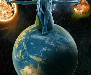 woman and earth image