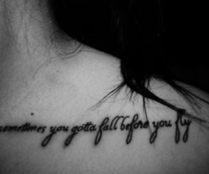 tattoo, fly, and black and white image