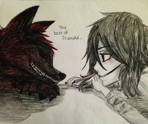 jeff the killer, smile dog, and creepypasta image