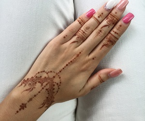 hand, manicure, and henna image