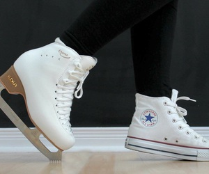 converse, figure skating, and high tops image