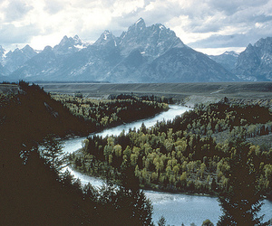 mountains, river, and nature image